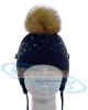 WG55-JD ПОМПОН ЕНОТ ТЕРМО - шапка фирмы Барбарас состав 50% шерсть 50% акрил размеры 44-48